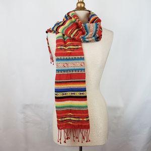 Ralph Lauren Purple Label Serape scarf, EUC
